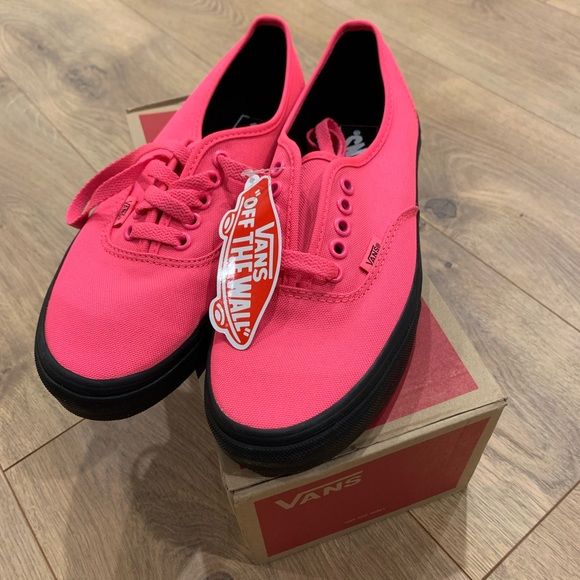 2384020dbf69af NWT Authentic Vans - Hot Neon Pink with Black Sole